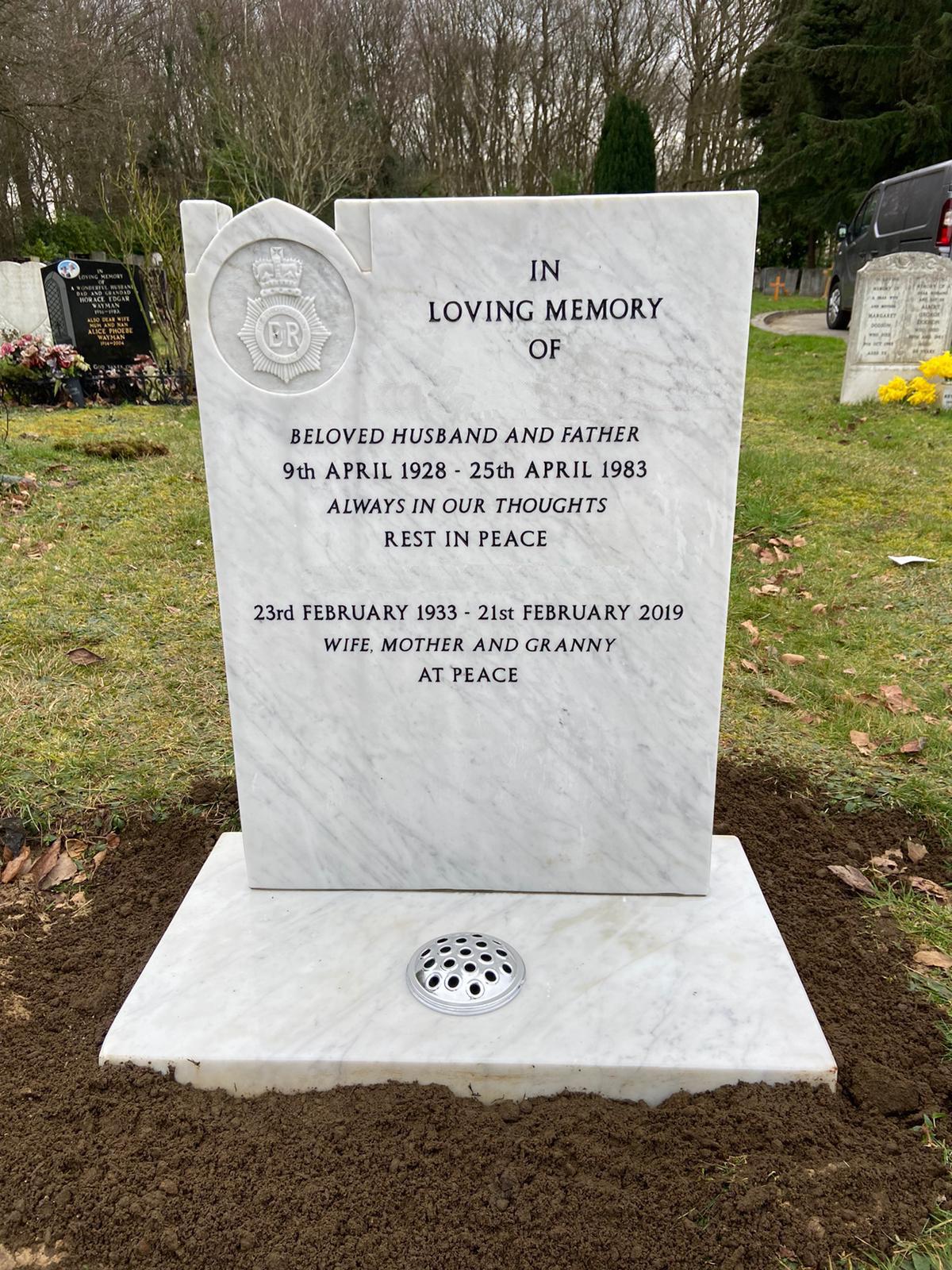 whitemarble lawn memorial