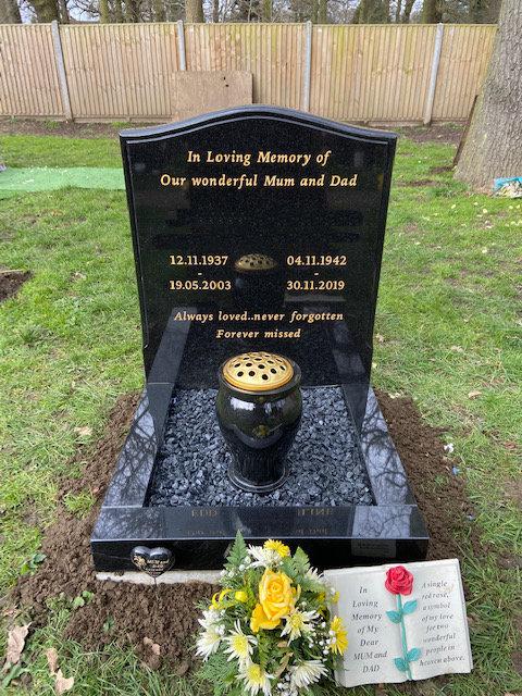 NM-118/MB-111 black granite memorial