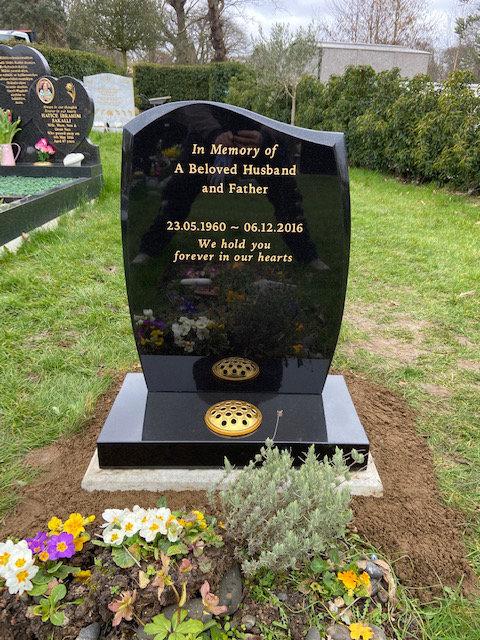 MB-110/NM-110 black granite lawn memorial