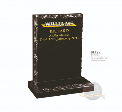 Decorative Chapter-Sculpted Edge Memorial