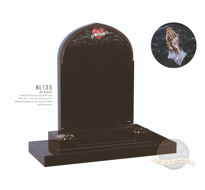 Shaped Chapter-Gothic Top Bronze Heart Memorial