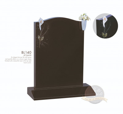 Shaped Chapter-Bronze Lily & Vase Memorial