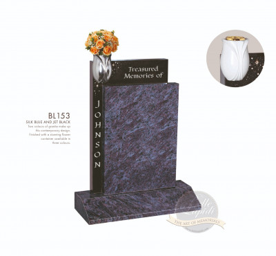 Shaped Chapter-Square Top Two Granite Memorial