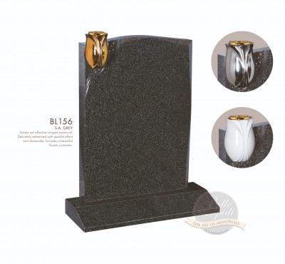 Shaped Chapter-Corner Vase Rebated Memorial