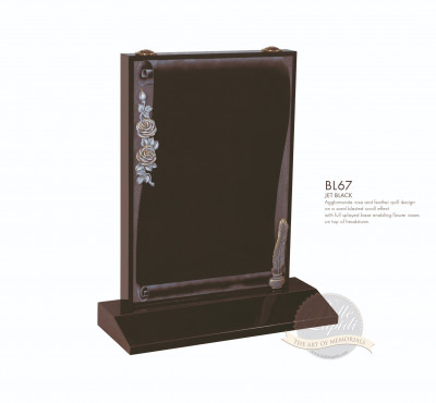 Book & Scroll Chapter-Etched Scroll Design Memorial