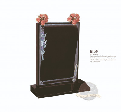 Book & Scroll Chapter-Scrolled Design Memorial