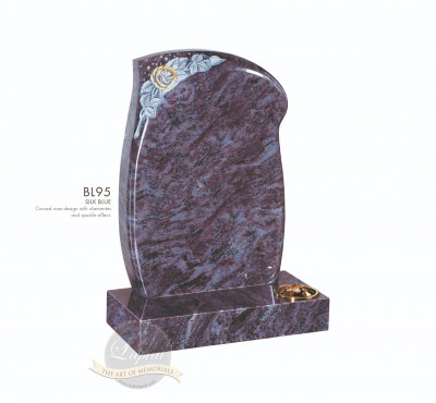 Floral Chapter-Rose & Sparkle Curved Memorial