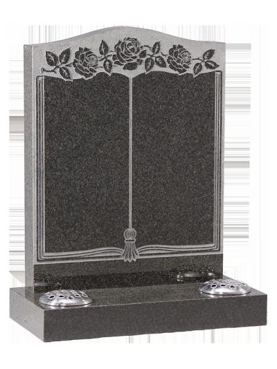 Granite Headstone - With sandblast book design