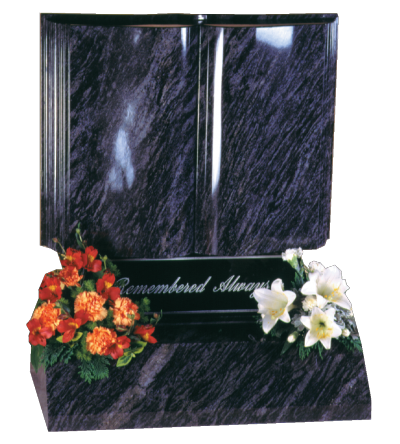 Granite Headstone - Magnificent carved book