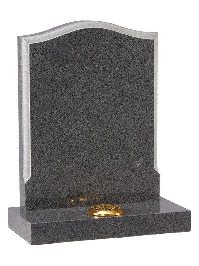 Granite Headstone - Shaped profile edge to memorial face