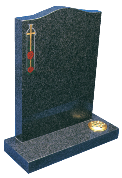 Granite Headstone - Ogee top with optional sandblast design