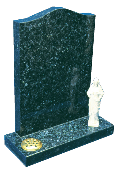 Granite Headstone - Beautiful pearlescent memorial