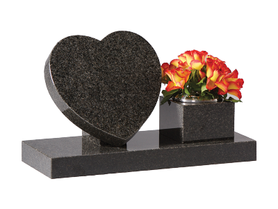 Granite Heart - With Side Vase