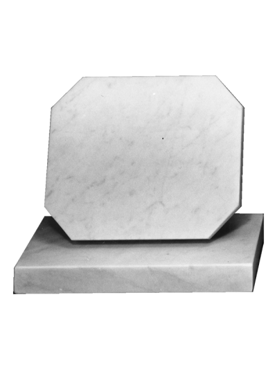 Marble Cremation Memorial - Token Tablet with shaped corners