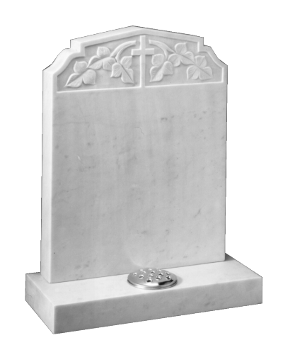 Marble Headstone - Peon top with ogee shoulders