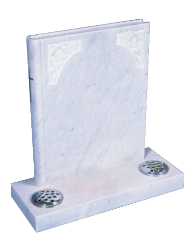 Marble Headstone - Book of life
