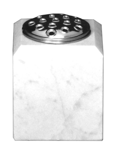 Marble vase with chamfered top