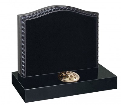 Cremation Style Memorial-Rope Edged Headstone