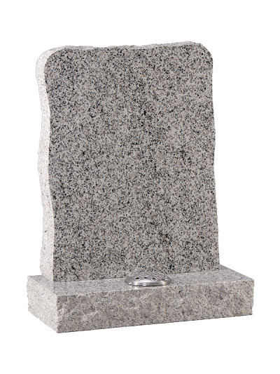 Granite Rustic Headstone - With rustic edges