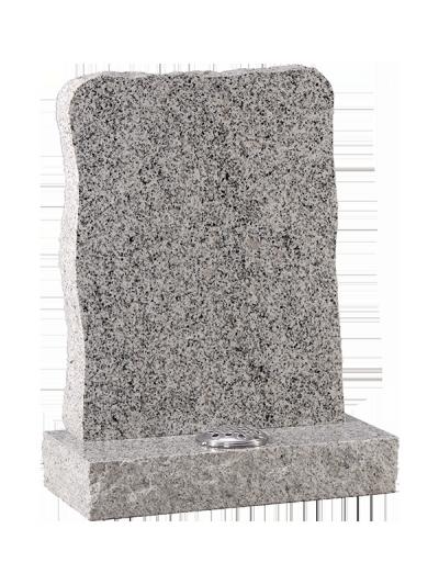 Granite Rustic Headstone - With rustic edges