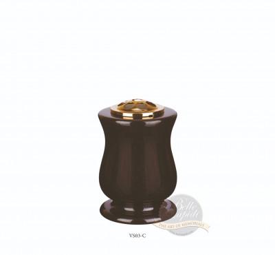 Vase-Curved Spun Vase