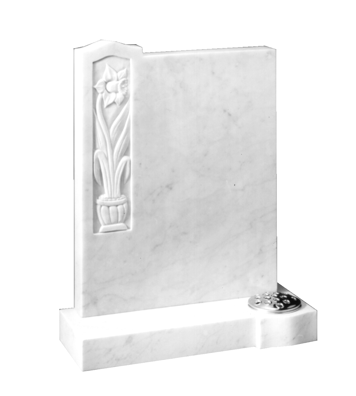 Buy Marble Headstone Hand Carved Daffodil