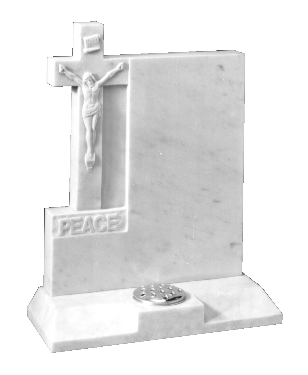 Buy Marble Headstone Hand Carved Cross And Jesus