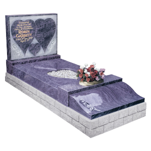 Exclusive Granite Kerb Surround - Carved raised heart