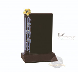 Floral Chapter-Carved Pillar Style Memorial