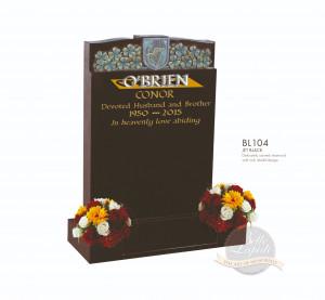 Floral Chapter- Carved Shamrock & Shield Memorial