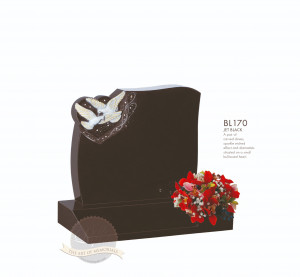 Cremation & Desk Chapter-Dove Pairs In Heart Memorial