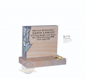 Cremation & Desk Chapter-Carved Lily Memorial