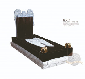 Kerb Set Chapter-Angel Over Book Full Kerb Memorial