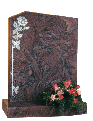 Granite Headstone - Shaped headstone and base