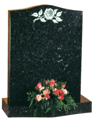 Granite Headstone - Ogee top headstone with ogee base