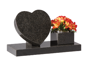 Granite open book - With flower container