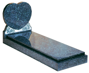 Granite Surround - Heart shaped full memorial