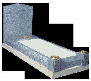 Granite Surround - With splayed kerbs and check corner posts