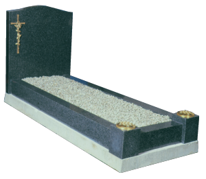 Granite Surround - Includes bronze type cross