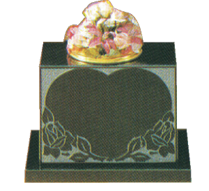 Granite Vase - Sandblast design