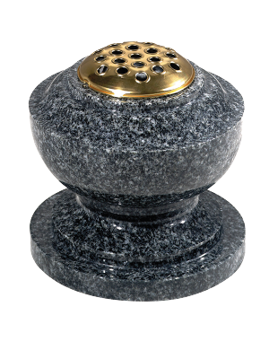 Granite Spun Vase - With flower container