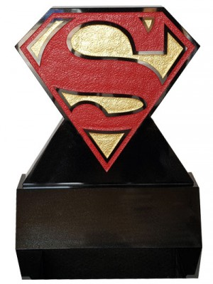 Children's Memorials - Superman Headstone On A Wedge Block Base