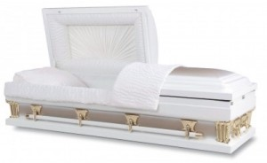 Ridgeland Sunset White Gold Casket